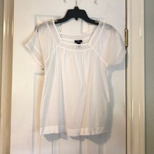 White top with eyelet detail
